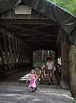 Views of the Covered Bridge, on the 2nd day of the 4th Annual Summer Hoot Festival held at the Ashokan Center, Olivebridge, NY, on Saturday, August 27, 2016. Photo by Jim Peppler; Copyright Jim Peppler 2016.