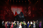 """King Kong with Ensemble Cast during the Broadway Opening Night Curtain Call for """"King Kong - Alive On Broadway"""" at the Broadway Theater on November 8, 2018 in New York City."""