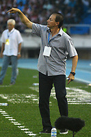 BARRANQUILLA - COLOMBIA, 12-AGOSTO-2017:Ruben Bedoya director técnico del Envigado FC.Atlético Junior y Envigado FC en partido por la fecha 7 de la Liga Águila II 2017 jugado en el estadio Metropolitano Roberto Meléndez de la ciudad de Barranquilla. / Ruben Bedoya coach of Envigado FC. Atletico Junior and Envigado FC in match for the date 7 of the Aguila League II 2017 played at Metropolitano Roberto Melendez stadium in Barranquilla city. Photo: Vizzorimage / Alfonso Cervantes / Stringer