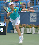 Sam Querrey (USA) loses to Marin Cilic (FRA), 7-6, 7-6 at the Citi Open in Washington, DC,  on August 6, 2015.