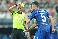 Referee Stephanie Frappart during the UEFA SUPERCUP match between Liverpool and Chelsea at Vodafone Park in Istanbul , Turkey on August 14 , 2019. PUBLICATIONxNOTxINxTUR<br /> Foto Imago/Insidefoto