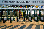 May 15, 2019 : Signalman heads to the track as horses prepare for Preakness Week at Pimlico Race Course in Baltimore, Maryland. Scott Serio/Eclipse Sportswire/CSM