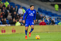 Nathaniel Mendez-Laing of Cardiff City during the Sky Bet Championship match between Cardiff City and Norwich City at the Cardiff City Stadium, Cardiff, Wales on 1 December 2017. Photo by Mark  Hawkins / PRiME Media Images.