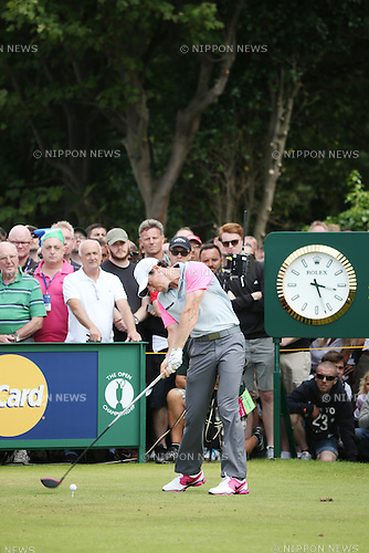 Rory McIlroy (NIR), JULY 20, 2014 - Golf : Rory McIlroy of Northern Ireland tees off on the 5th hole during the final round of the 143rd British Open Championship at Royal Liverpool Golf Club in Hoylake, England. (Photo by Koji Aoki/AFLO SPORT) [0008]