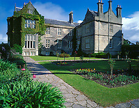 County Kerry, Killarney National Park, Ring of Kerry, Ireland          <br /> Muckross House, built in 1843, Elizabethan style, with landscaped gardens and stone pathway