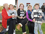 Angie, Amy and Danielle Fitzpatrick, Samantha and Patrick Thornton pictured at the Boyne Fishermans Rescue and Recovery Service open day. Photo: Colin Bell/pressphotos.ie