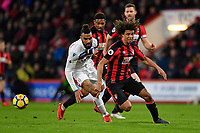 Eric Maxim Choupo-Moting of Stoke City and Nathan Ake of AFC Bournemouth vie for the ball during AFC Bournemouth vs Stoke City, Premier League Football at the Vitality Stadium on 3rd February 2018