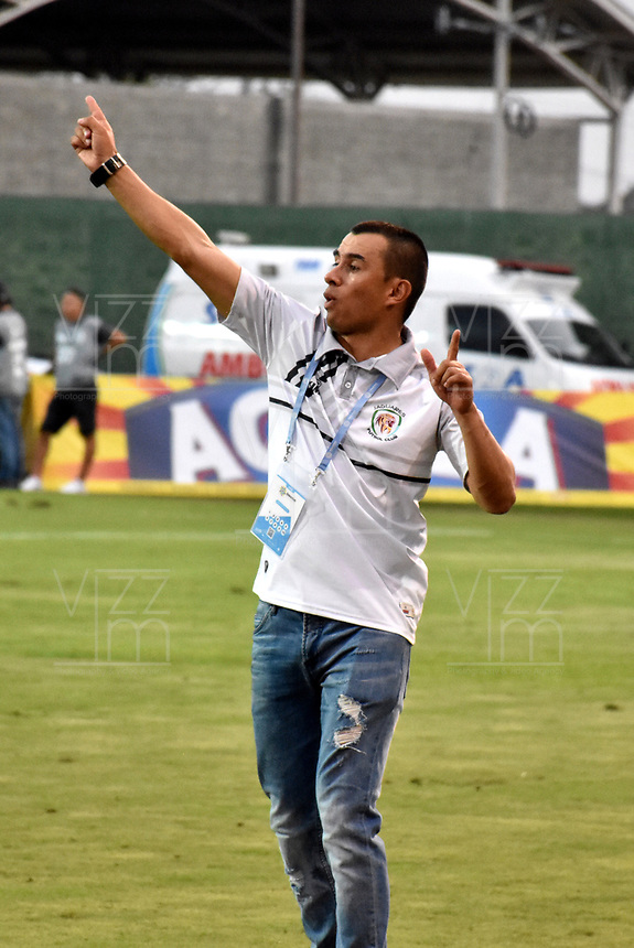 MONTERÍA - COLOMBIA, 23-02-2019: Jhon Jairo Bodmer, técnico de Jaguares F. C., durante partido entre Jaguares F. C. y Cúcuta Deportivo de la fecha 6 por la Liga Águila I 2019, en el estadio Jaraguay de Montería de la ciudad de Montería. / Jhon Jairo Bodmer, coach of Jaguares F. C., during a match between Jaguares F. C., and Cucuta Deportivo, of the 6th date for the Leguaje Aguila I 2019 at Jaraguay de Montería Stadium in Monteria city. Photo: VizzorImage / Andrés López  / Cont.