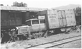 RGS Goose #2, DSC stencilled, derelict along with rotary snow plow #2.<br /> RGS  Ridgway, CO  1950-1952