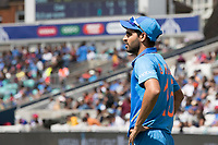 Bhuvneshwar Kumar (India) during India vs New Zealand, ICC World Cup Warm-Up Match Cricket at the Kia Oval on 25th May 2019