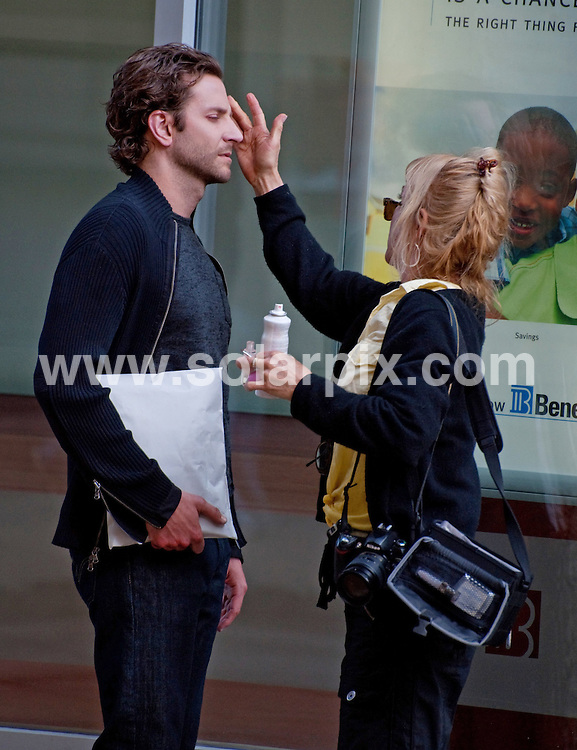**ALL ROUND PICTURES FROM SOLARPIX.COM**.**SYNDICATION RIGHTS FOR UK, AUSTRALIA, DENMARK, PORTUGAL, S. AFRICA, SPAIN & DUBAI (U.A.E) & ASIA (EXCLUDING JAPAN) ONLY**.The Dark Fields Filming on Location in Philadelphia, PA, USA, 12 April 2010.This pic: Bradley Cooper.JOB REF: 11079   PHZ froggatt    DATE:  12_04_2010.**MUST CREDIT SOLARPIX.COM OR DOUBLE FEE WILL BE CHARGED**.**MUST NOTIFY SOLARPIX OF ONLINE USAGE**.**CALL US ON: +34 952 811 768 or LOW RATE FROM UK 0844 617 7637**