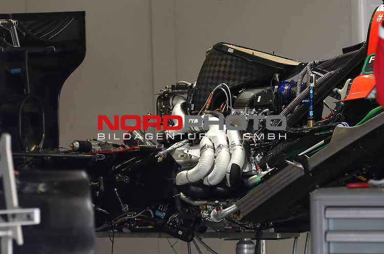 12.04.2015, Shanghai-International-Circuit, Schanghai, CHN, Gro&szlig;er Preis von China / Schanghai 2015, im Bild  Manor Marussia F1 Team 2014 Ferrari engine<br /> for the complete Middle East, Austria &amp; Germany Media usage only!<br />  Foto &copy; nph / Mathis