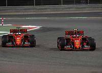 Sebastian VETTEL (GER) (SCUDERIA FERRARI) (L) and Charles LECLERC (FRA) (SCUDERIA FERRARI) (R) during the Bahrain Grand Prix at Bahrain International Circuit, Sakhir,  on 31 March 2019. Photo by Vince  Mignott.