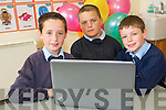 Holymount National School launched their own school website at the day of celebration at the Rathmore school last week. .L-R John Christy Nagle, Mark O'Donoghue and Killian Cronin.