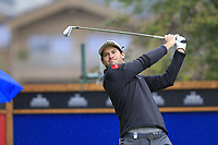 Ricardo Gouveia (POR) tees off the 10th tee during Saturday's Round 3 of the 2017 Omega European Masters held at Golf Club Crans-Sur-Sierre, Crans Montana, Switzerland. 9th September 2017.<br /> Picture: Eoin Clarke | Golffile<br /> <br /> <br /> All photos usage must carry mandatory copyright credit (&copy; Golffile | Eoin Clarke)
