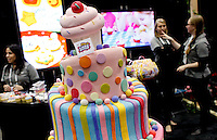 Clay It-Cake Shop demonstrates their product during an exhibition at the 109th Annual American International Toy Fair in New York, United States. 13/02/2012.  Photo by Eduardo Munoz Alvarez / VIEWpress.