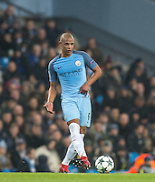 Fernando of Manchester City during the UEFA Champions League GROUP match between Manchester City and Celtic at the Etihad Stadium, Manchester, England on 6 December 2016. Photo by Andy Rowland.