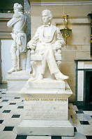 Statue of Vice President Alexander Hamilton Stephens of the Confederate States of America that is part of the National Statuary Hall Collection in the United States Capitol in Washington, DC on Thursday, August 31, 2017.   The statue of Vice President Stevens was given to the Collection by the State of Georgia in 1927. The collection is comprised of 100 statues, two from each state.  Of those, twelve depict Confederate leaders.  The statues have become controversial and there have been calls for their removal from the US Capitol.<br /> Credit: Ron Sachs / CNP /MediaPunch