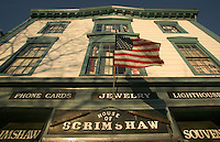 USA, Newport, RI - Broad view of the historic House of Scrimshaw.