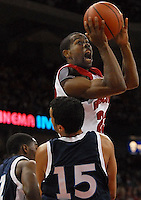 """Wisconsin's 6' 2"""" guard Kammron Taylor helps the Badgers to a 82-33 win over University of Wisconsin - Stout in a 11/3/06 NCAA men's basketball game at the Kohl Center in Madison"""