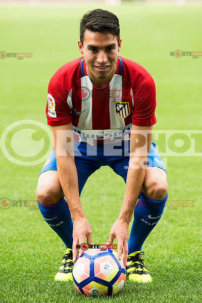 Argentinian football player Nico Gaitan is present like new Atletico de Madrid's football player for the next season 2016-2017 at Vicente Calderon Stadium in Madrid. July 19, Spain. 2016. (ALTERPHOTOS/BorjaB.Hojas) /NORTEPHOTO.COM