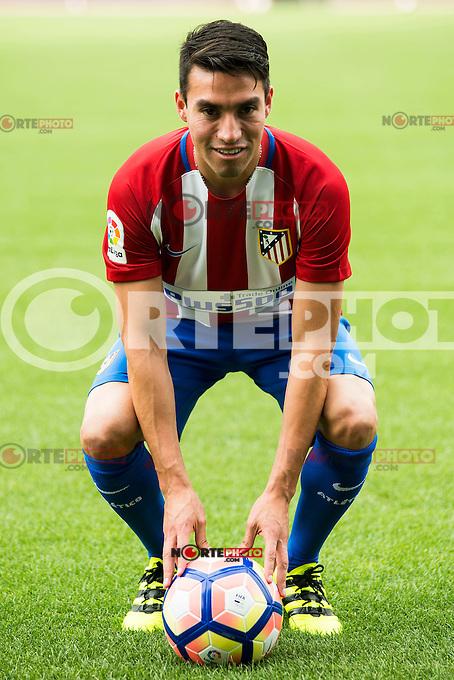 Argentinian football player Nico Gaitan is present like new Atletico de Madrid's football player for the next season 2016-2017 at Vicente Calderon Stadium in Madrid. July 19, Spain. 2016. (ALTERPHOTOS/BorjaB.Hojas) /NORTEPHOTO.COM