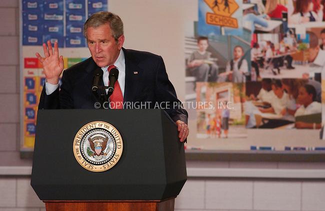 WWW.ACEPIXS.COM . . . . .....April 24 2007, New York City....US President George W. Bush speaking at Harlem Village Academy Charter School on the reauthorization of the 'No Child Left Behind' bill.....Please byline: Kristin Callahan - ACEPIXS.COM..... *** ***..Ace Pictures, Inc:  ..Philip Vaughan (646) 769 0430..e-mail: info@acepixs.com..web: http://www.acepixs.com