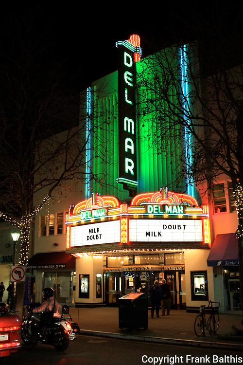 Del Mar Theatre on Pacific Ave.