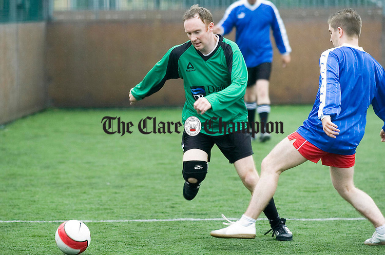 Action from Wolfe Tones GAA club during the Digital River Soccer tournament.Pic Arthur Ellis.