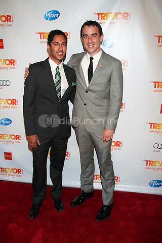 Maulik Pancholy and Keola Whittaker at TREVOR LIVE! An irreverent evening of music and comedy to benefit The Trevor Project, honoring Susan Sarandon and MTV in  New York City. June 25, 2012 © Diego Corredor/MediaPunch Inc.
