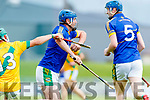 Maurice O'Connor Kilmoyley in action against Pat Corridan Lixnaw in the Kerry County Senior Hurling championship Final between Kilmoyley and Lixnaw at Austin Stack Park on Sunday.