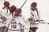 - The Boston College Eagles defeated the visiting St. Francis Xavier University X-Men 8-2 in an exhibition game on Sunday, October 6, 2013, at Kelley Rink in Conte Forum in Chestnut Hill, Massachusetts.