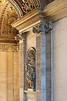 Charity statue located in the portico of St Peter's Basilica, Vatican City, Rome, Italy