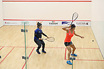 Satomi Watanabe (JPN), <br /> AUGUST 23, 2018 - Squash : <br /> Women's Singles Round of 32 <br /> at Gelora Bung Karno Squash Stadium <br /> during the 2018 Jakarta Palembang Asian Games <br /> in Jakarta, Indonesia. <br /> (Photo by Naoki Nishimura/AFLO SPORT)