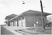 View of the freight room end of the D&amp;RGW Alamosa depot.<br /> D&amp;RGW  Alamosa, CO