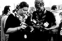 Photographers always brought their cameras and never stops talking about them, even when they're at a party. Photo: Johanna Mårtensson/Scouterna