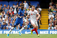 Tammy Abraham of Chelsea shoots on goal during the Premier League match between Chelsea and Sheff United at Stamford Bridge, London, England on 31 August 2019. Photo by Carlton Myrie / PRiME Media Images.