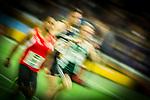 17.02.2018,  Helmut-K&ouml;rnig-Halle, Dortmund, GER, Deutsche Leichtathletik Meisterschaften Dortmund 2018, <br /> <br /> im Bild | picture shows:<br /> Vorlauf 60 m der M&auml;nner, vl., Michael Bryan (LC Rehlingen), Dennis Horn (LT DSHS K&ouml;ln) und Magnus Bunar (VfL Wolfsburg), <br /> <br /> <br /> Foto &copy; nordphoto / Rauch