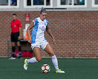 Boston, MA - Saturday August 19, 2017: Alanna Kennedy during a regular season National Women's Soccer League (NWSL) match between the Boston Breakers (blue) and the Orlando Pride (white/light blue) at Jordan Field. Orlando Pride defeated Boston Breakers, 2-1.