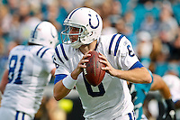 January 01, 2012: Indianapolis Colts quarterback Dan Orlovsky (6) rolls out to pass during first half action between the Jacksonville Jaguars and the Indianapolis Colts played at EverBank Field in Jacksonville, Florida.  ........