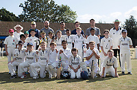 The junior squads with some of the Essex players before Upminster CC vs Essex CCC, Benefit Match Cricket at Upminster Park on 8th September 2019