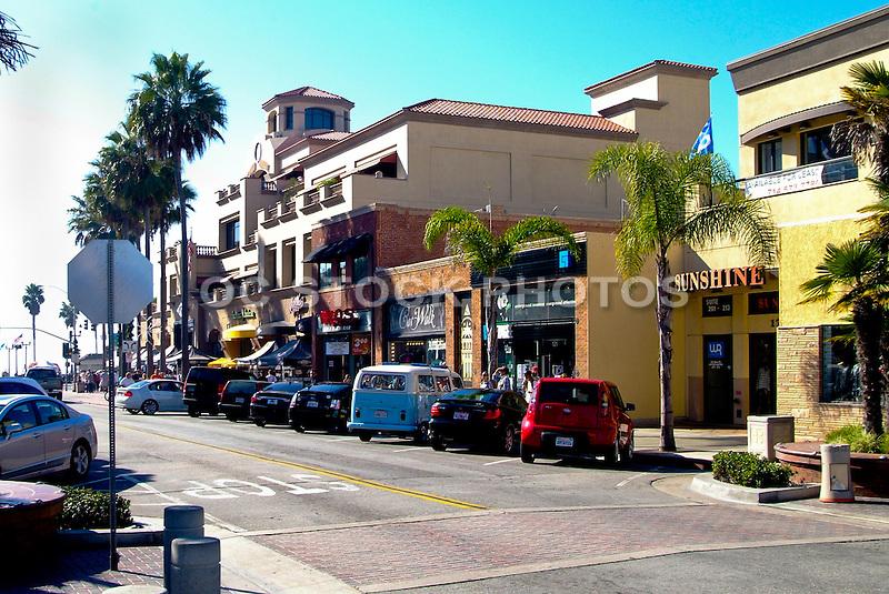 Shops and Restaurants on Main Street in Huntington Beach