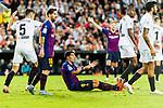 Luis Suarez of FC Barcelona (C) reacts during their La Liga 2018-19 match between Valencia CF and FC Barcelona at Estadio de Mestalla on October 07 2018 in Valencia, Spain. Photo by Maria Jose Segovia Carmona / Power Sport Images