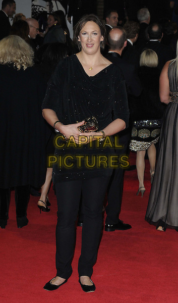 Miranda Hart.'Skyfall' Royal World Film Premiere, Royal Albert Hall, Kensington Gore, London, England..23rd October 2012.full length black top trousers .CAP/CAN.©Can Nguyen/Capital Pictures.