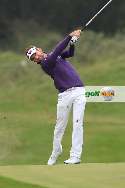 Jbe Kruger (RSA) on the 1st during Round 4 of the KLM Open at Kennemer Golf &amp; Country Club on Sunday 14th September 2014.<br /> Picture:  Thos Caffrey / www.golffile.ie