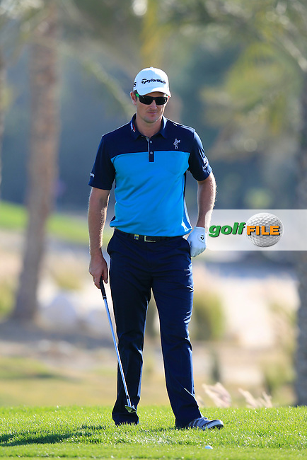 Justin Rose (ENG) at the 10th green during Thursday's Round 2 of the 2015 Commercial Bank Qatar Masters held at Doha Golf Club, Doha, Qatar.: Picture Eoin Clarke, www.golffile.ie: 1/22/2015