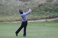 Joshua Hill (Galgorm Castle) on the 16th fairway during Round 2 of the Ulster Boys Championship at Portrush Golf Club, Portrush, Co. Antrim on the Valley course on Wednesday 31st Oct 2018.<br /> Picture:  Thos Caffrey / www.golffile.ie<br /> <br /> All photo usage must carry mandatory copyright credit (&copy; Golffile | Thos Caffrey)