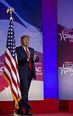 U.S. President Donald Trump greets supporters during CPAC 2019 on March 02, 2019 in Washington, DC. The American Conservative Union hosts the annual Conservative Political Action Conference to discuss conservative agenda.<br /> Credit: Tasos Katopodis / Pool via CNP