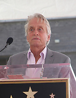 LOS ANGELES, CA - SEPTEMBER 13: Michael Douglas at the Hollywood Walk Of Fame Ceremony honoring Eric McCormack in Los Angeles, California on September 13, 2018. <br /> CAP/ADM/FS<br /> ©FS/ADM/Capital Pictures