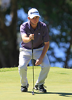 Austin Connelly (CAN) in action on the 10th during Round 3 of the ISPS Handa World Super 6 Perth at Lake Karrinyup Country Club on the Saturday 10th February 2018.<br /> Picture:  Thos Caffrey / www.golffile.ie<br /> <br /> All photo usage must carry mandatory copyright credit (&copy; Golffile | Thos Caffrey)